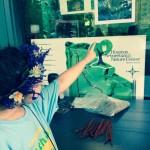 Houston ISD Student teaching how to make a HABITAT BRACELET